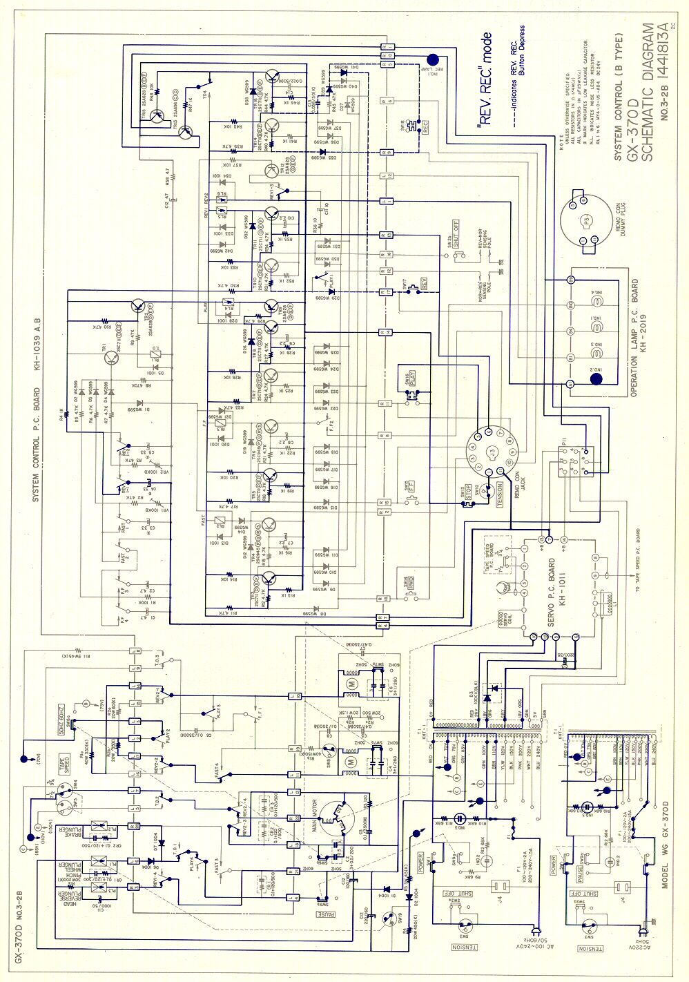 Akai Gx 370d Service Manual Click On Schematic To Magnify X2